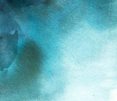 Obraz abstraktní modré akvarel spot, pozadí, rozvod