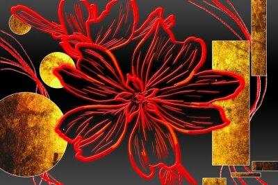 Obraz Abstraktní olejomalba ilustrační