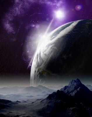Obraz Abstraktní pozadí hlubokého vesmíru. V daleké budoucnosti cestování. Nový