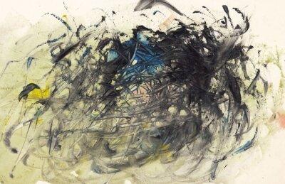 Obraz Abstraktní pozadí malování nebo Art