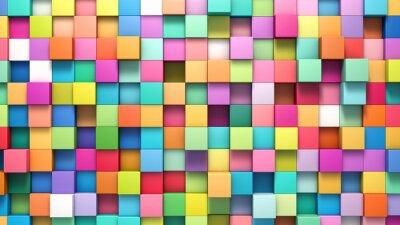Obraz Abstraktní pozadí různobarevných kostek