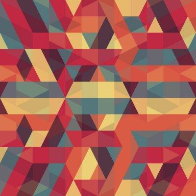 Obraz abstraktní retro geometrický vzor