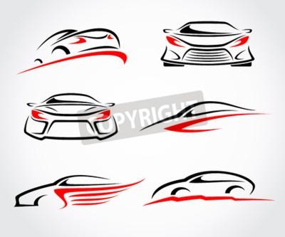 Obraz Abstraktní sada automobilů. Vektor