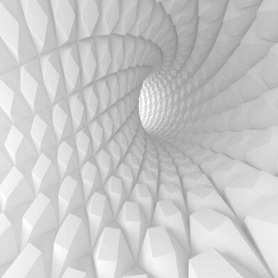 Obraz Abstraktní Spirála tunel Render
