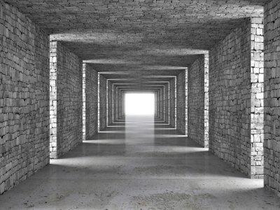 Obraz abstraktní tunelu