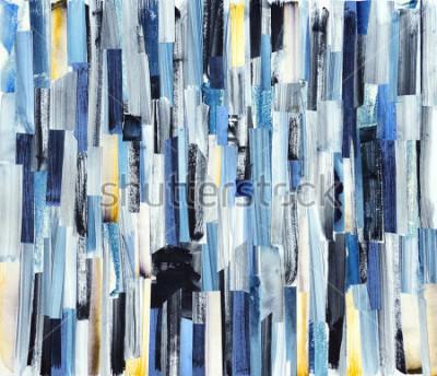 Obraz Abstraktní umělecké pozadí s vícebarevnými pruhy a teals. Inkoustová struktura na papíře