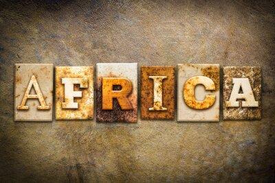 Obraz Africa Concept Letterpress Leather Theme