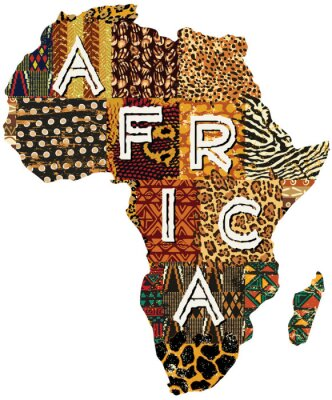 Obraz Africa patchwork vector map