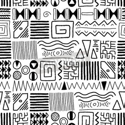 Obraz Afričan etnický vzor - domorodý výtvarné pozadí. Afrika styl designu.