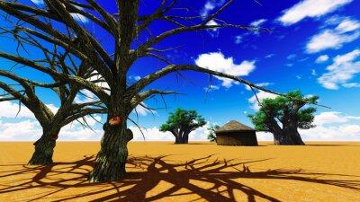 Obraz Africká vesnice