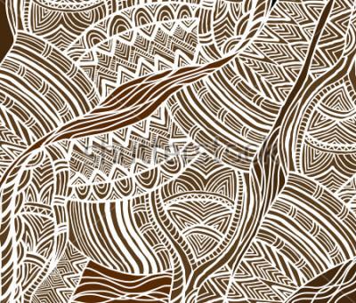 Obraz Africké pozadí v etnickém stylu ručně malované