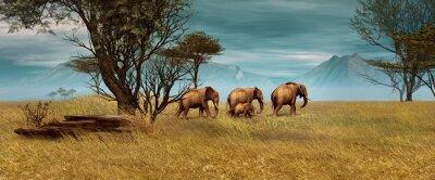 Obraz Afričtí sloni, 3D CG