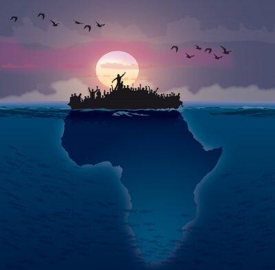 Obraz Afrique - emigrace
