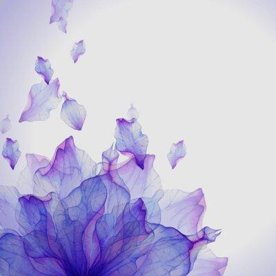 Obraz Akvarel karta s fialovým okvětních lístků