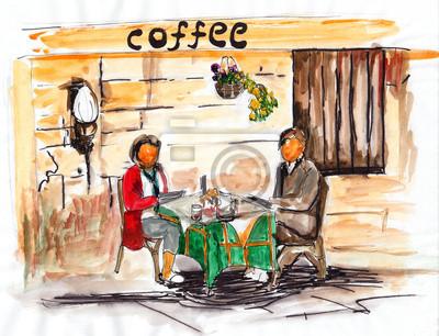 akvarel kavárna