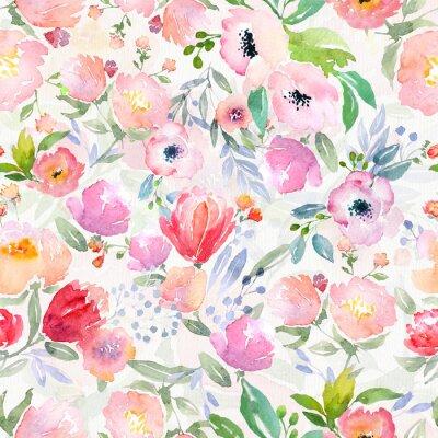 Obraz akvarel květinovým vzorem