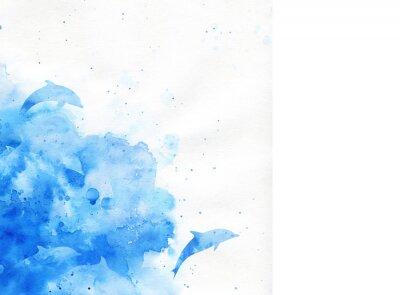 Obraz akvarel pozadí