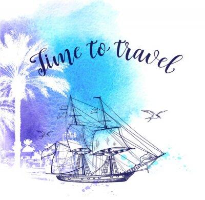 Obraz Akvarel pozadí cestování