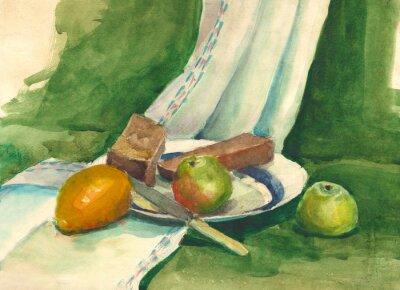 Obraz akvarel zátiší