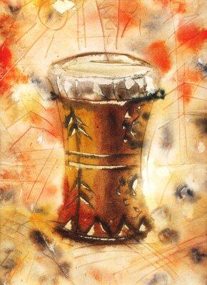Obraz Akvarel zátiší s Tom-Tom