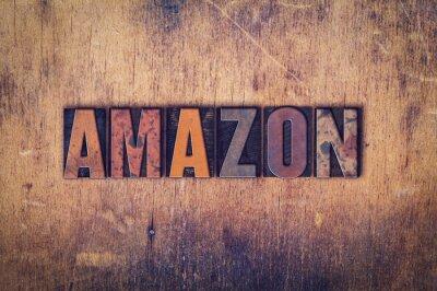 Obraz Amazon Concept Dřevěný Letterpress Type