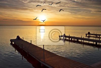 Obraz Amor en el lago