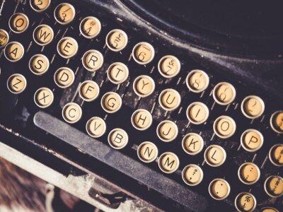 Obraz Antique psací stroj Vintage objekt pozadí