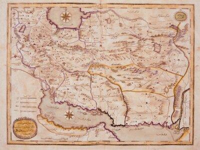 Obraz Arabic staré mapy