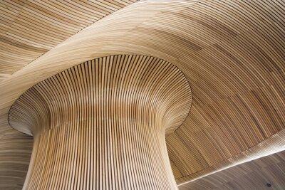 Obraz architektonické detaily Velšské národní shromáždění budova, Cardiff Bay, u