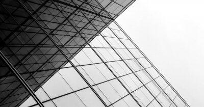 Obraz architektura geometrie na skle okna - monochromatické