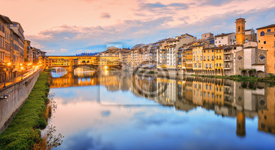 Arno river in Florence Old town, Italy