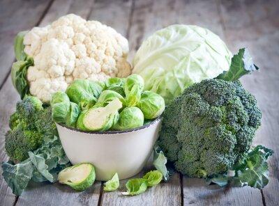 Obraz Assortment of cabbages