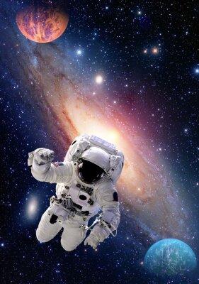 Obraz Astronaut Spaceman kosmickém prostoru lidé galaxie planeta sluneční soustavy vesmíru. Prvky tohoto obrázku zařízeném NASA.