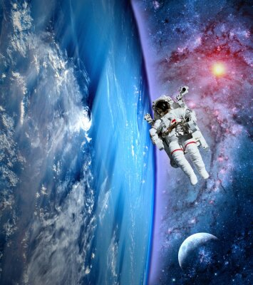 Obraz Astronaut Spaceman Země Měsíc