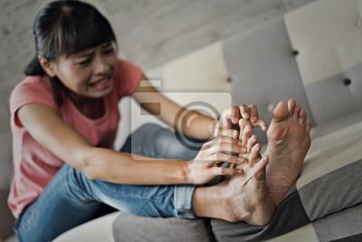 Obraz athlete's foot of woman