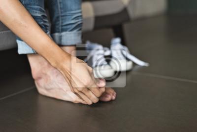 Obraz atletická noha ženy