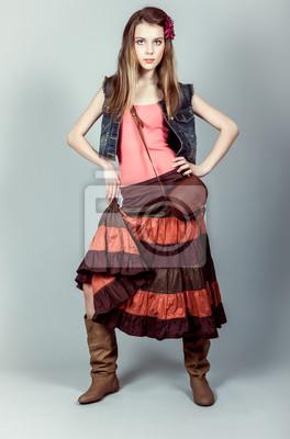 Atraktivní mladá modelka
