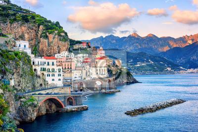 Atrani town on Amalfi coast, Italy