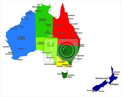 Austrálie mapa
