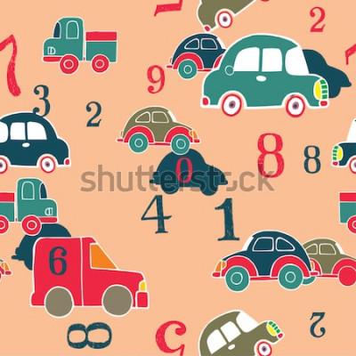 Obraz auta a číslice