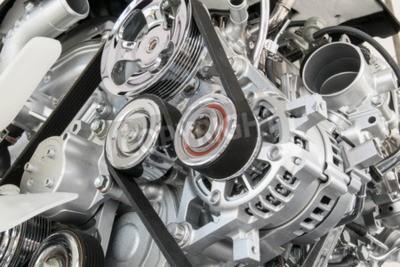 Obraz Auto motor detailní Součástí motoru auta