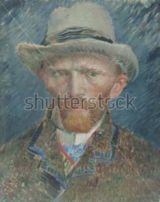 Obraz Autoportrét, Vincent van Gogh, 1887, holandská olejomalba. Vystupujte zde jako moderně oblečený pařížský