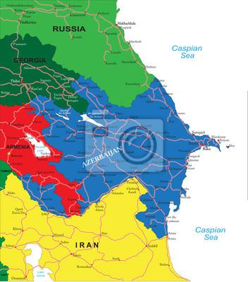 Ázerbájdžán mapa