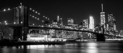 Obraz B & W Brooklynský most, New York, USA