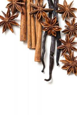 Obraz Badyán, skořice a vanilkových lusků