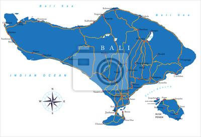 Bali mapa