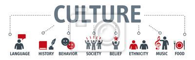 Obraz Banner Culture Concept vektorové ilustrace