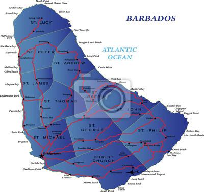Barbados mapa