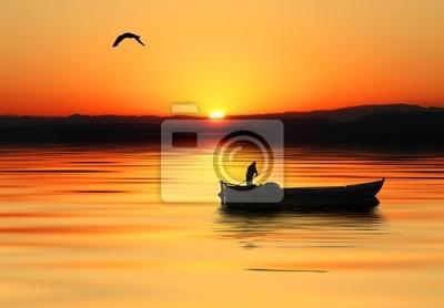 Obraz barca en el mar