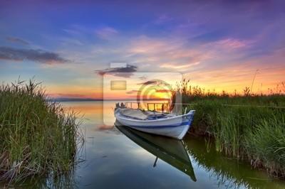 Obraz barca entre los Juncos